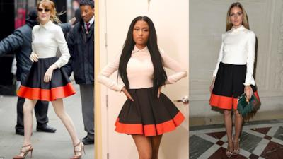 Colour-block dress di Nicki Minaj, Emma Stone ed Olivia Palermo