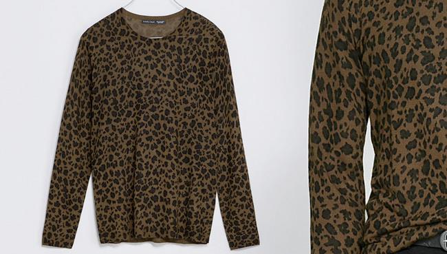 Maglia in mood animal print di Zara