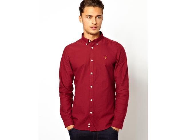 Camicia slim fit in tessuto Oxford