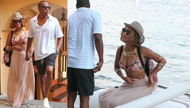 Il look di Beyoncé a Portofino, settembre 2014