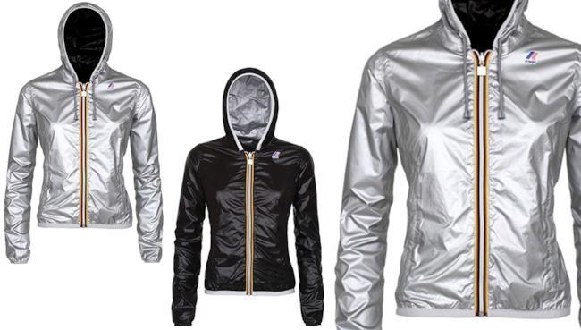 Dettaglio della giacca Lily Plus Double Metal di K-Way