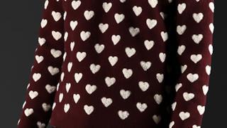 Maglione con stampe a cuori per lui di Burberry