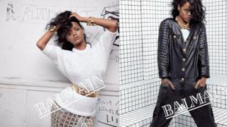Rihanna testimonial per Balmain