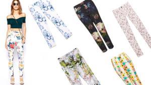 I migliori 15 modelli di pantaloni fiorati da donna per l'estate 2014