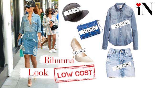 Look low cost in jeans per essere come Rihanna