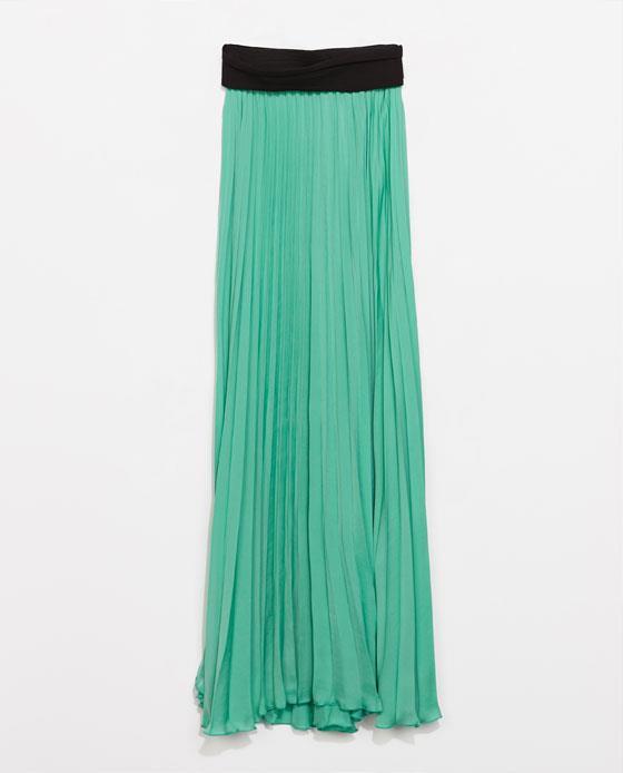 La gonna è uno die must di Zara per l'estate 2014