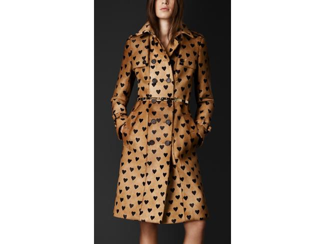 Trench a cuori per Burberry in coat