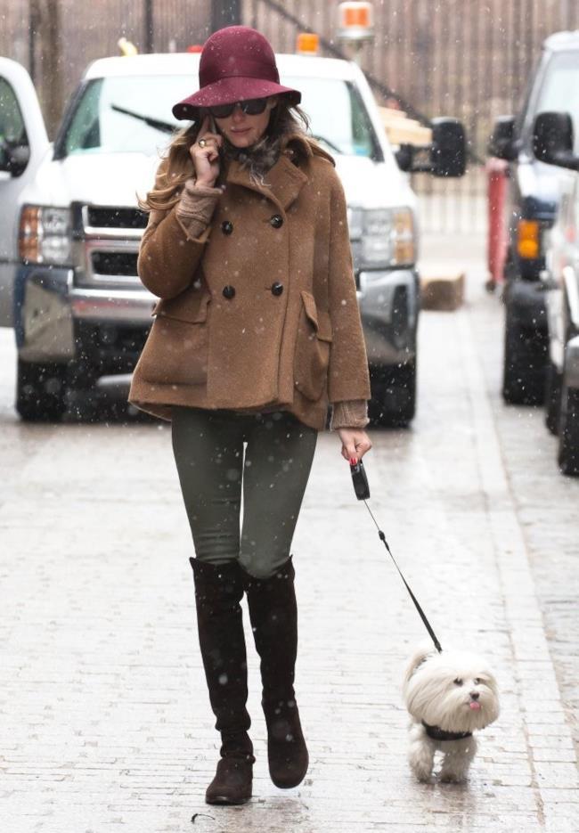 Look per portare fuori il cane con stile