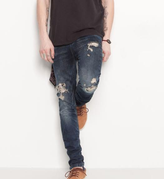 Il look low cost alla Kanye West per l'estate 2014, jeans di Pull & Bear