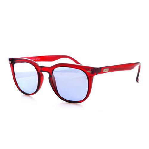 Spektre il modello in rosso con lente azzurrata