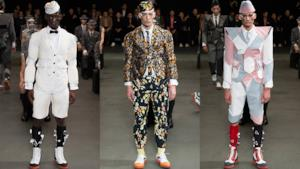 Thom Browne fashion show in Paris, spring summer 2015 men collection