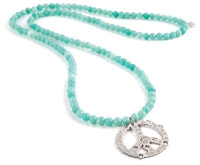 Collana in Amazzonite calma con simbolo in argento di Jack & Co