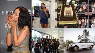In abito Balmain Rihanna presenta il suo nuovo profumo Rouge