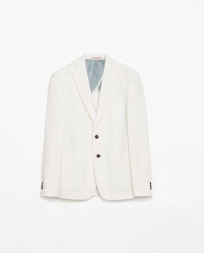 Saldi 2014: blazer bianco avorio di Zara sprin summer collection