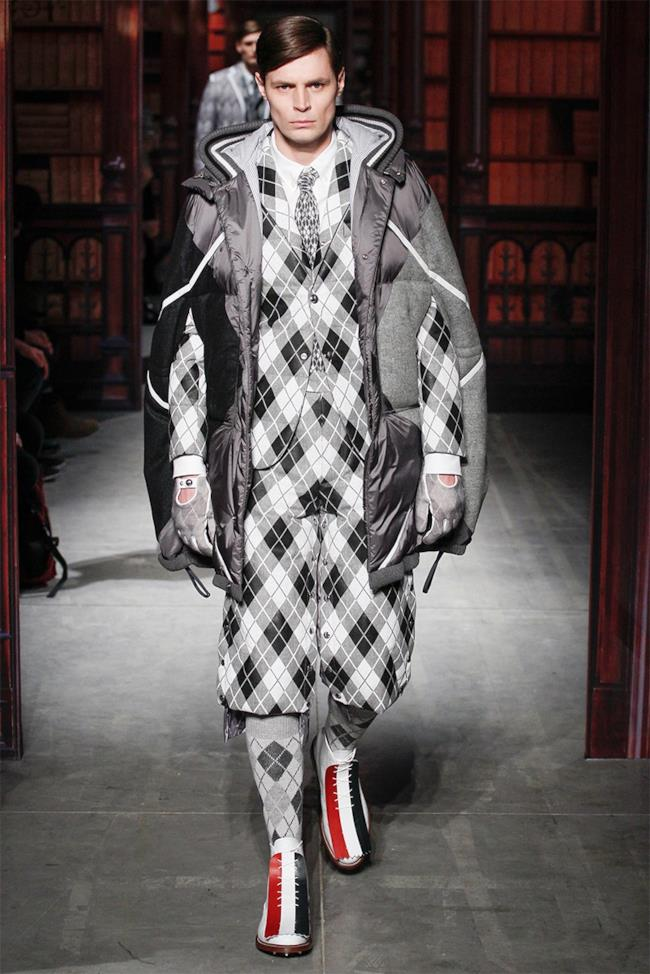 Moncler conquista la Milano Fashion Week 2014 in Argyle style ... 1536ed85f9b