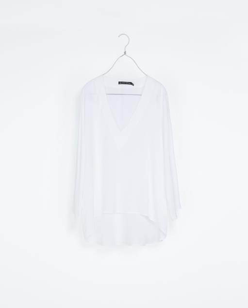 Camicia di Zara per un look alla Kim Kardashian per l'estate 2014