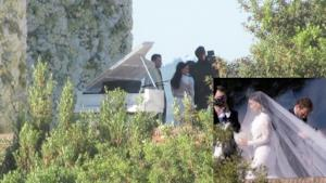 Kanye West and Kim Kardashian wedding pictures