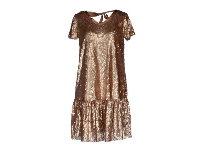 2a9b17e2ea Vestito in paillettes dorate di Twin-Set su Yoox   Insane Inside