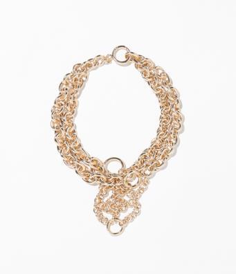 Collana in metallo dorato di Zara