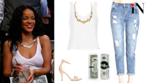 Look Rihanna, low cost
