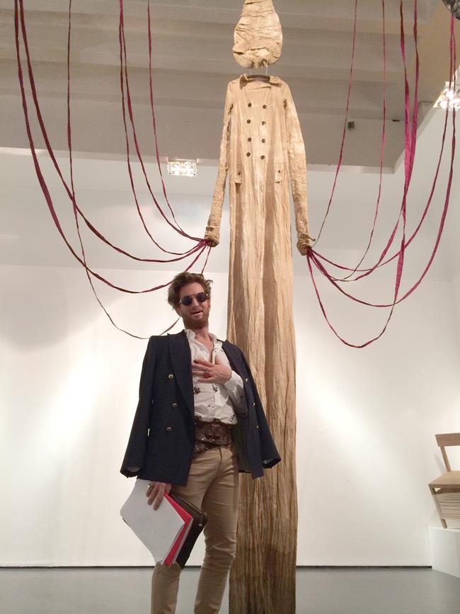 L'opera di Antonio Marras all'inaugurazione della mostra