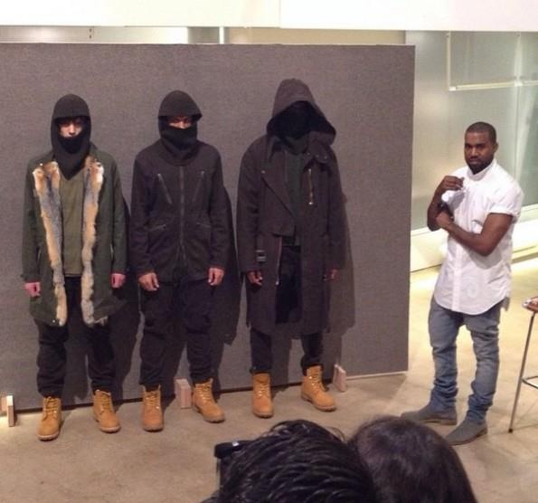 Kanye West lancia la sua prima collezione durante la Paris Fashion Week 2014
