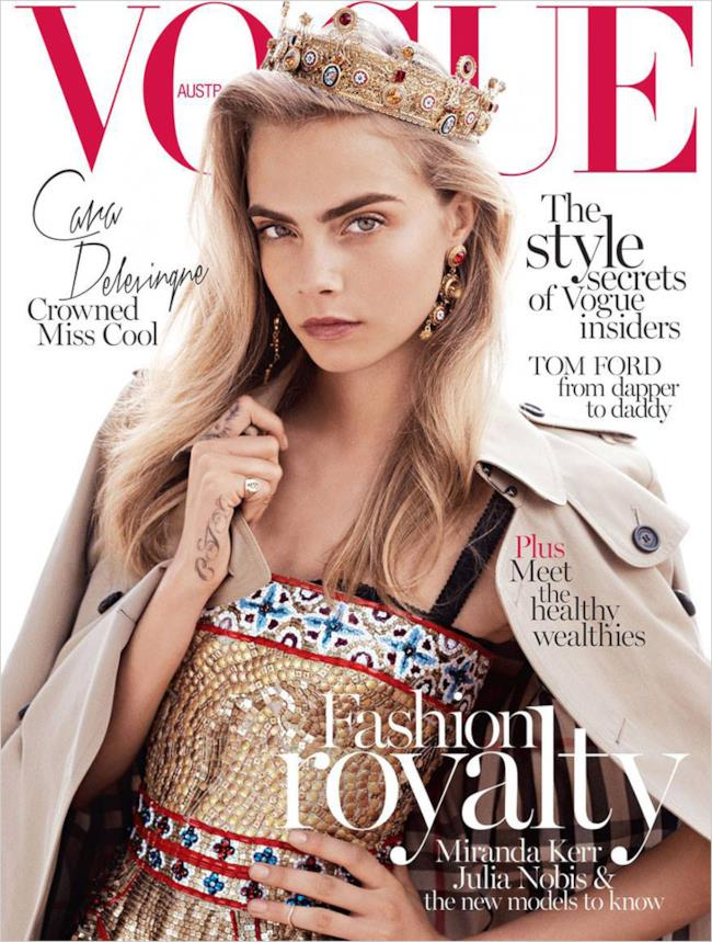 Cara Delevingne cover magazine di Vogue