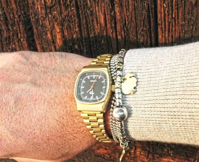 Bracciale Dodo in oro e orologio Manta Vintage by Breil