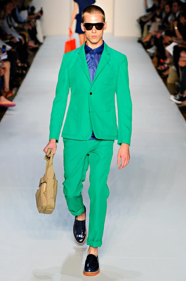Look color blocking uomo