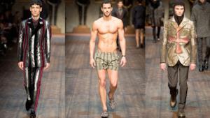 Alcune dei modelli più cool della passerella di Dolce & Gabbana MMFW 2014