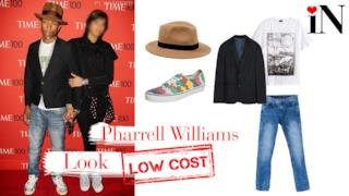 Il look casual da red carpet di Pharrell Williams