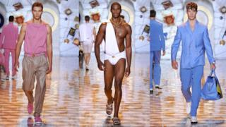 Versace menswear spring summer 2015, Milano Fashion Week