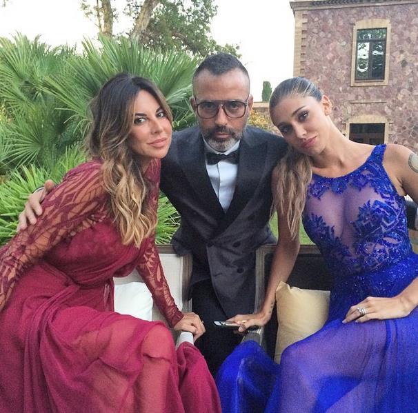 Mauro Situra al matrimonio della Canalis con Simona Miele e Belen Rodriguez