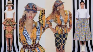Il look di Beyoncé con stampe africane di Demestiks New York