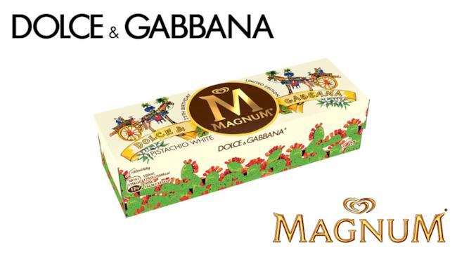 La nuova scatola del Magnum personalizzata dai due stilisti siciliani Dolce & Gabbana