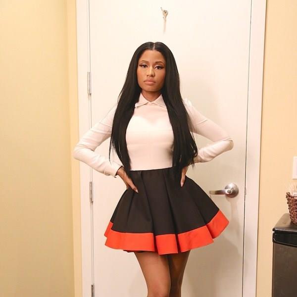 Nicki Minaj da Ellen Degeneres con un abito di Valentino fall 2014