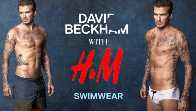 H&M collabora con David Beckham per lanciare la nuova linea di swimwear per l'estate 2014