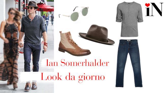 L'outfit da giorno di Ian Somerhalder