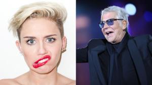 Roberto Cavalli ha creato una serie di abiti per Miley Cyrus che indosserà nel suo tour 2014