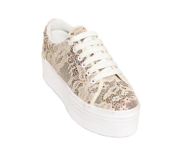 Saldi 2014  sneakers di JC Play con pizzo e glitter su LUISAVIAROMA ... 241ee6e0adc