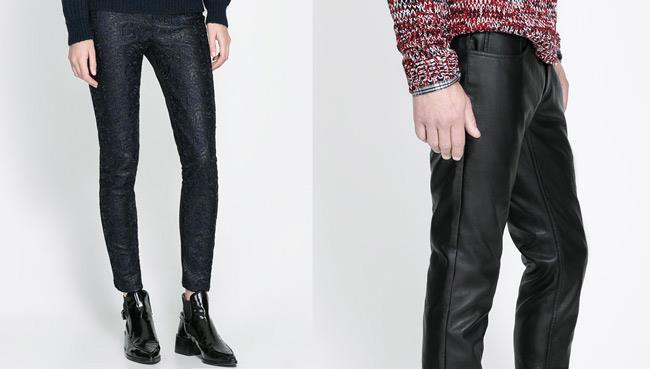 Pantaloni in pelle da indossare durante la Milano Fashion Week 2014