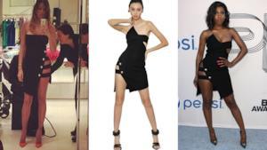Il vestito di Anthony Vaccarello sta diventando il più conteso dalla star di tutto il mondo