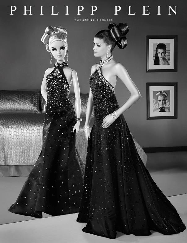 Barbie personalizzata per i 50 anni da Philipp Plein