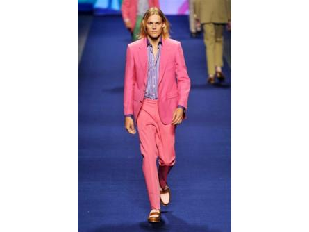 new arrival bd7b0 2f398 Etro spring summer collection 2015 uomo, completo pink ...
