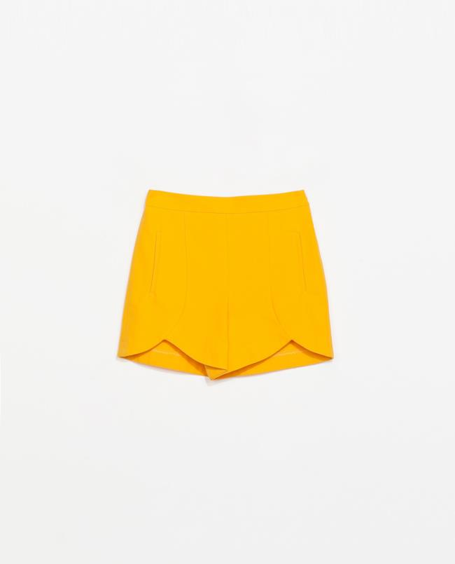 Pantaloncini mandarino di Zara