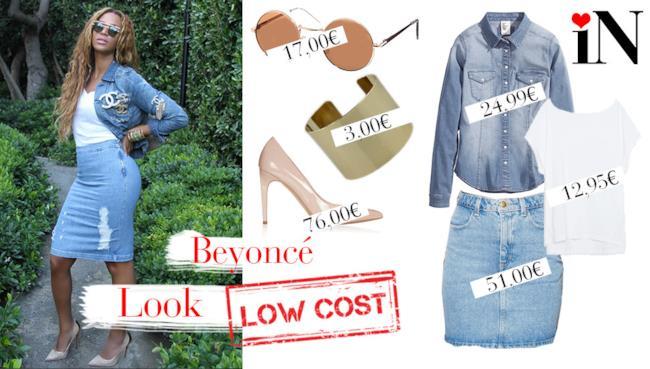 Il look denim di Beyoncé con prezzi low cost