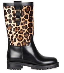 Biker Boot Leopard