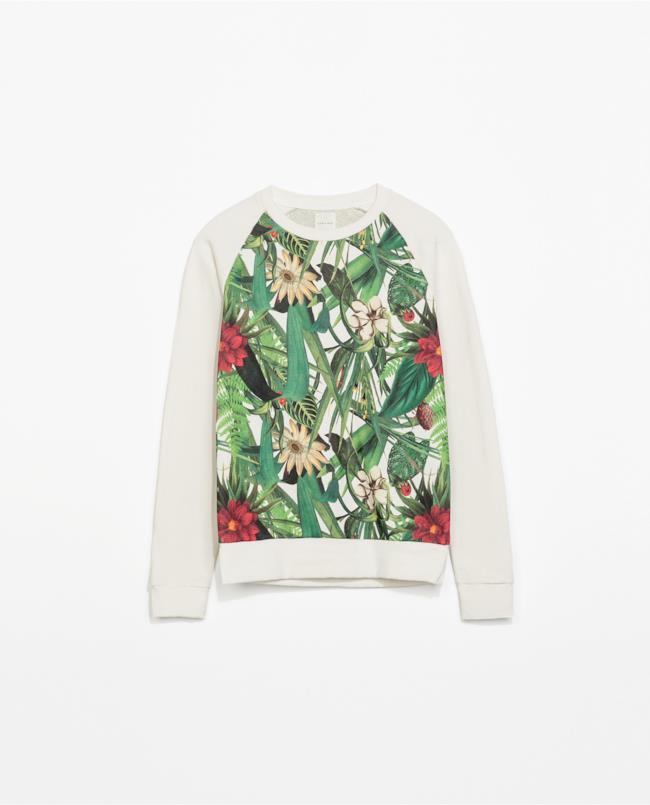 Maglia  a fiori di Zara