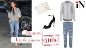Outfit low cost per assomigliare alla cantante Rihanna