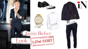 Il look in abito da sera di Justin Bieber low cost